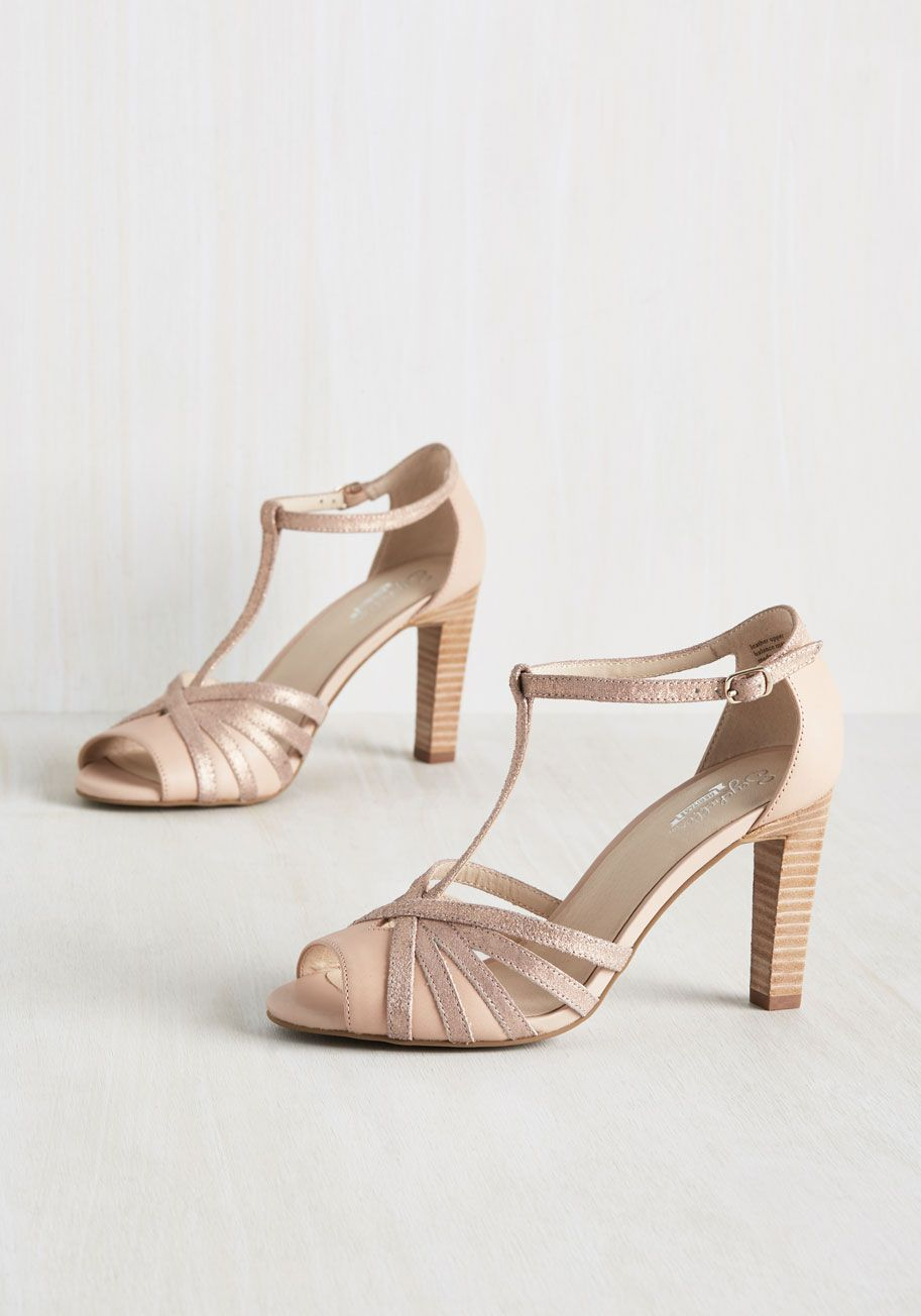 825dfb4fd764 Lap Leather Heel in Rose Gold. To celebrate the discovery of your ideal  shoes - these petal pink heels by Seychelles