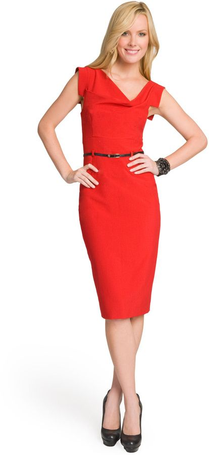 a5a92858 Black Halo Red Jackie O Dress on shopstyle.com | Client: KJ Red ...