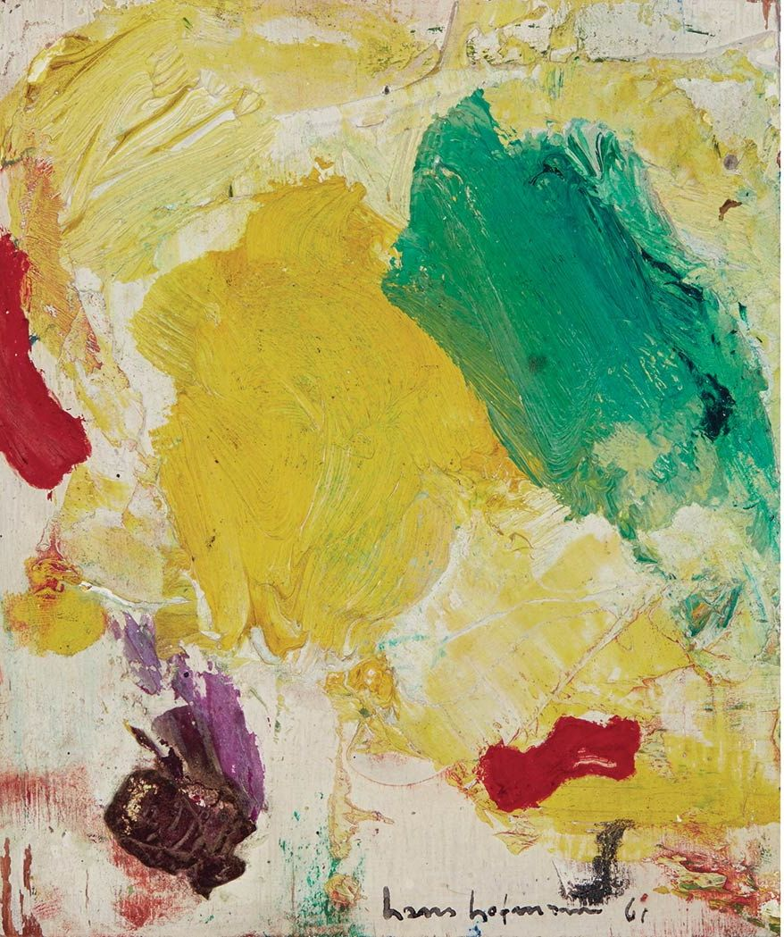 Hans Hofmann Untitled 1961 Oil On Board 15 87 X 13 33 Cm Art Contemporary Art Hans Hofmann