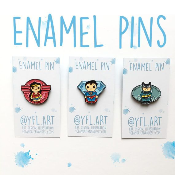 Wonder Woman Enamel Pin- Lapel Pin -Superhero Enamel Pins More superhero pins available in store and more on the way! Start collecting- great for backpacks, pencil cases, clutches and more. Matching art prints in store too. You will receive: 3 Enamel Pins Black metal and silver clasp ✪ STAY CONNECTED ✪ Facebook: https://www.facebook.com/YFL.ART Instagram: https://www.instagram.com/yfl.art/ Twitter: https://twitter.com/yfl_art Site: http:&...