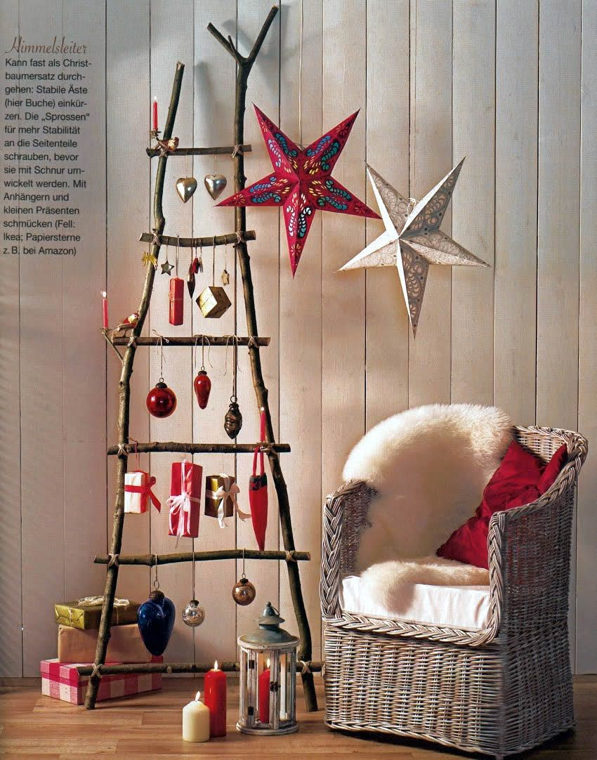 Decorationdiy christmas decorating ideas with chair also twigs decorationdiy christmas decorating ideas with chair also twigs stairs and star decorating with wooden amipublicfo Gallery