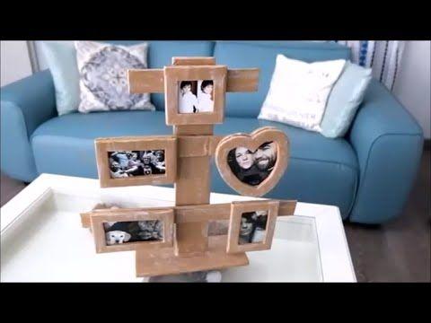 How To Make A Cardboard Photo Frame   Home DIY   YouTube