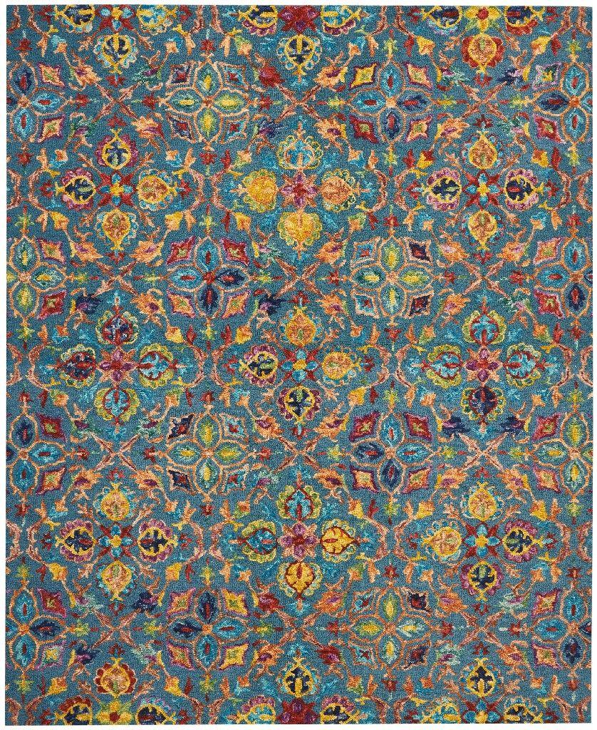 Vibrant Teal Area Rug - Nourison VIB08   Teal area rug ...