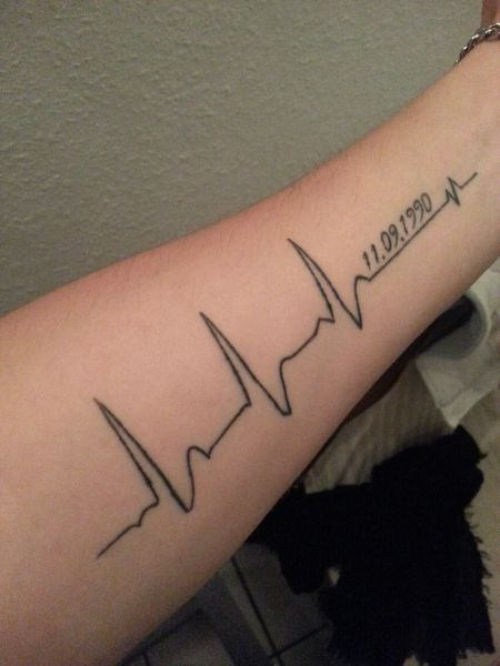 Back gt Gallery For gt EKG Rhythm Tattoos | Heart monitor ...
