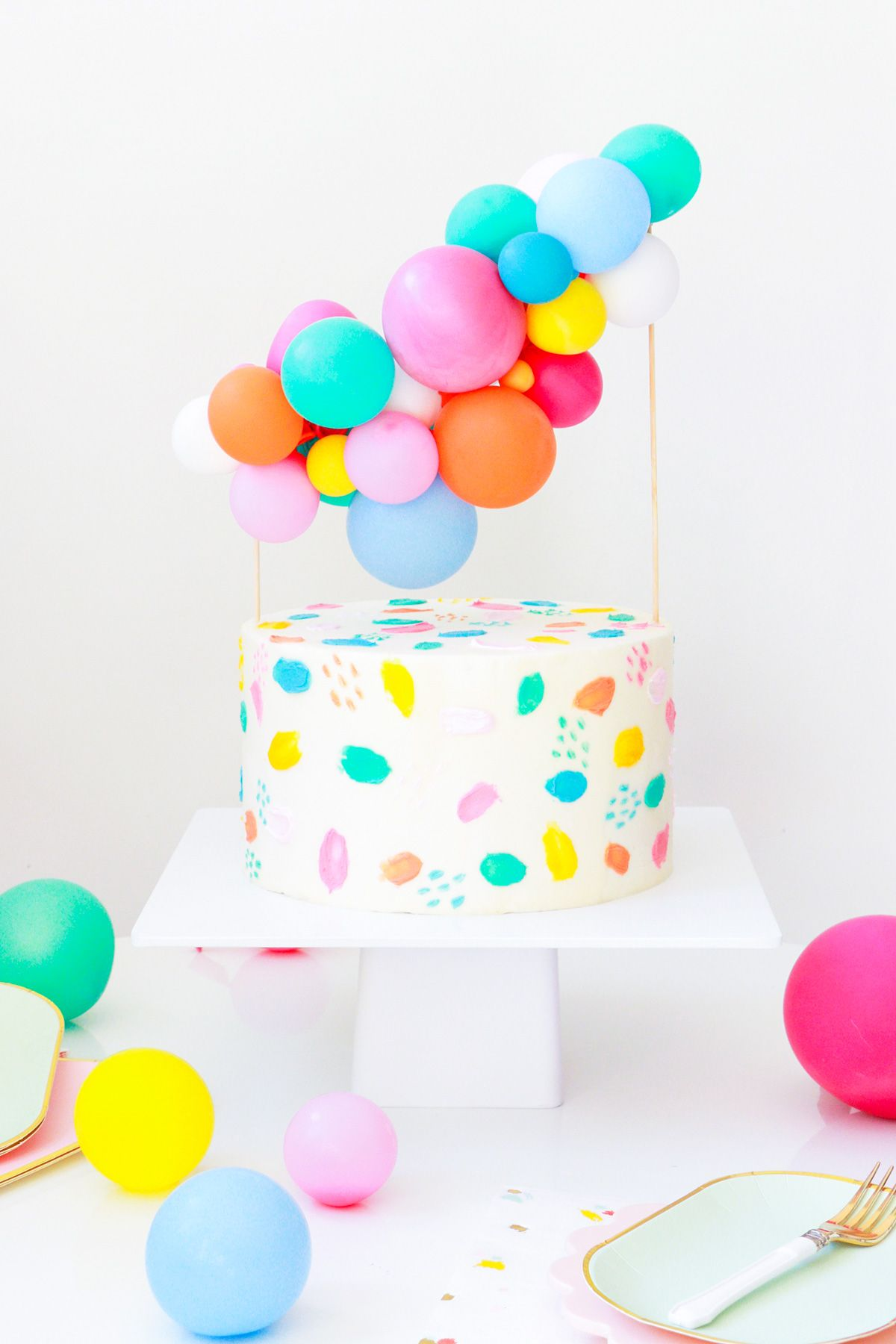 DIY Balloon Cake Topper By Top Houston Lifestyle Blogger Ashley Rose Of Sugar Cloth