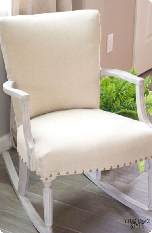 Restoration Hardware Inspired Rocker ~ This $20 Estate Sale Rocking Chair  Was Made Over With Chalk