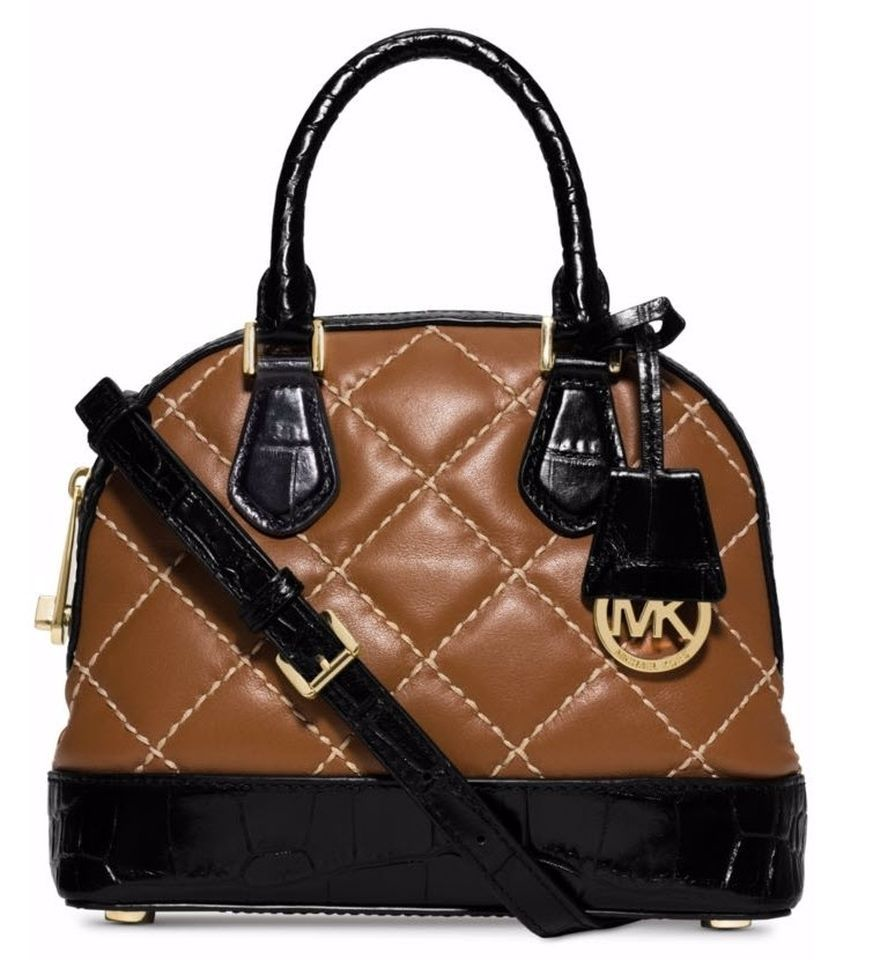 bb8af6c06 197.01$ Buy now - http://virwg.justgood.pw/vig/item.php?t=725irc22683 - MICHAEL  KORS SMYTHE quilted DOME SATCHEL vs CIndy CROSSBODY NWT