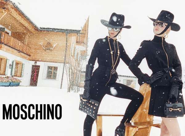 The Moschino Fall 2012 Campaign Stars Ophelie Rupp and Ymre Stiekema #winter #fashion trendhunter.com