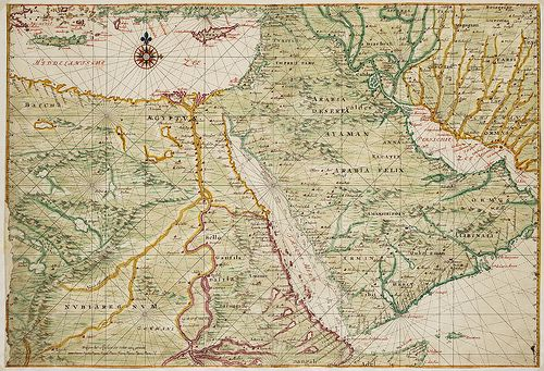 Old map of Egypt (17th century)