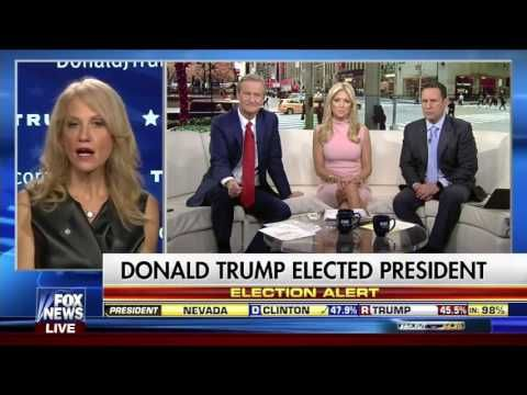 KELLYANNE CONWAY - INTERVIEW ON FOX & FRIENDS -  FOX NEWS 11-9-2016