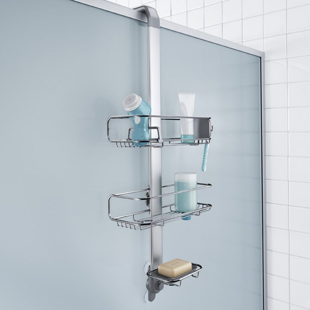 Fine Stainless Steel Over The Door Shower Caddy Crest - Bathroom ...