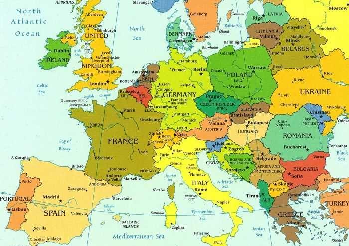 Carte Europe Voyage.Europe Voyages Voyage Europe Carte Europe Et Voyage