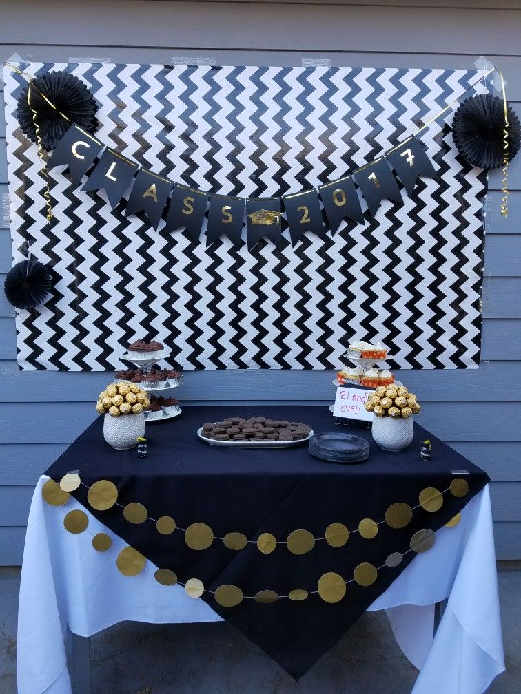 Black And Gold Theme Graduation Theme For Kids And Adults