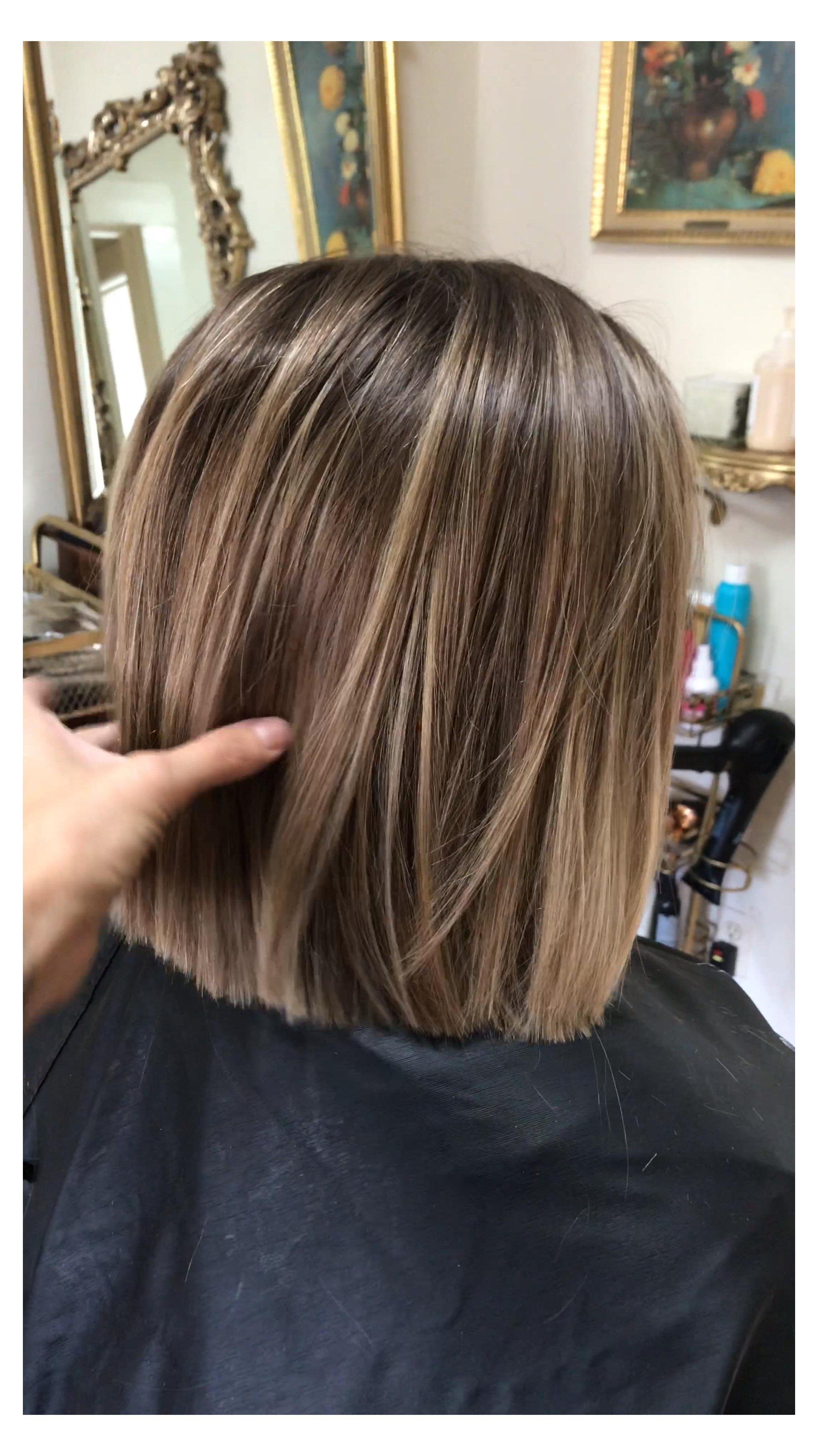 Bob Haircut With Soft Blonde Balayage Beautiful Hair Color Blonde Highlights Short Bob Haircut With Soft B In 2020 Short Hair Balayage Hair Highlights Hair Styles