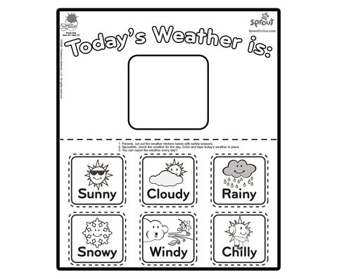 Pin By Cassie Osborne 3dinosaurs Com On Weather Activities For Kids Preschool Weather Chart Preschool Weather Weather Activities For Kids