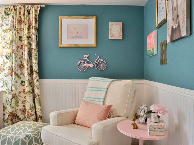 Teal And Pink Nursery Teal Nursery Teal Wall Colors Pink Nursery Colors #pink #and #teal #living #room