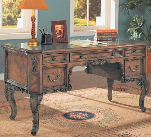Executive Burl Inlay Desk By Coaster Home Furnishings 684 95 Dimensions 30 X 60 X 30 Inches Item Leaves Our Facility In Aprox 7 Coaster Furniture Traditional Style Homes Furniture
