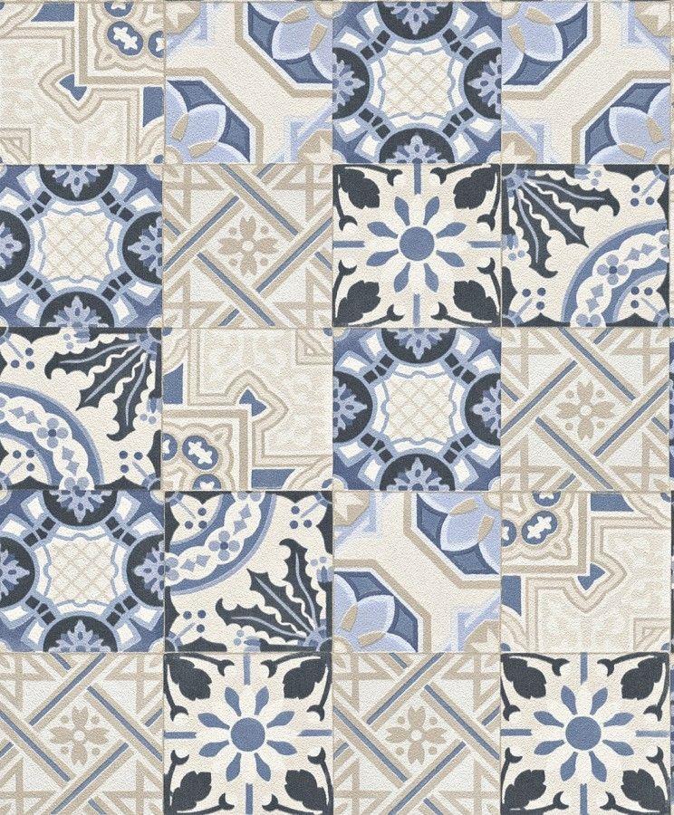 Papel Pintado Cocina Pdw9526325 Azulejos Vintage Tile Rasch