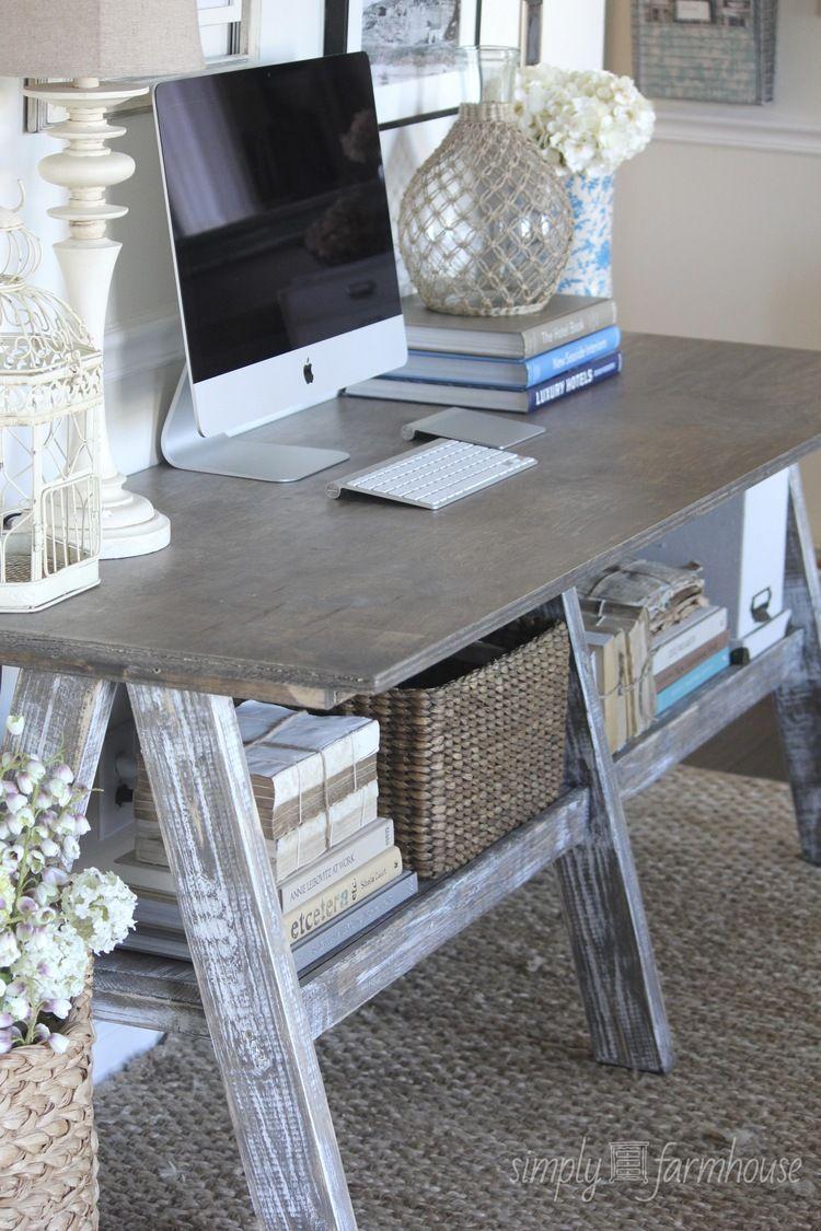 27++ Gray farmhouse desk model
