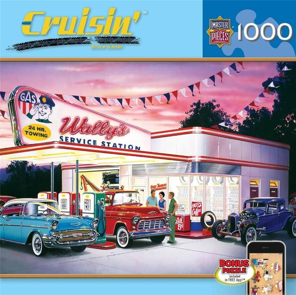 NEW Jigsaw Puzzle 1000 Piece Masterpieces Cruisin WALLY'S