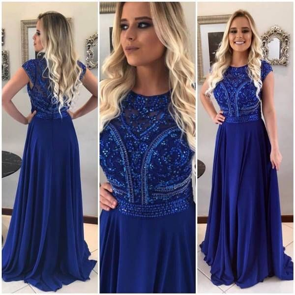 Vestido madrinha de casamento azul bic