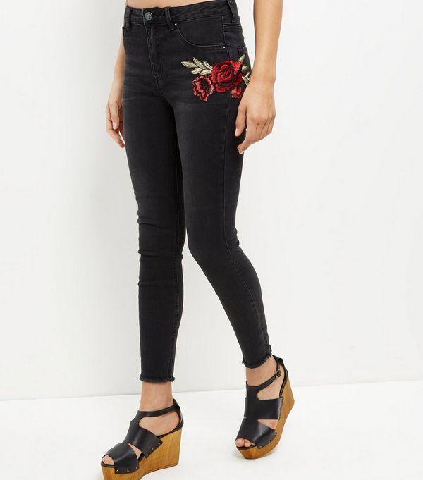 Womens Hi Rise Fray Skinny Jeans New Look Oddoc0