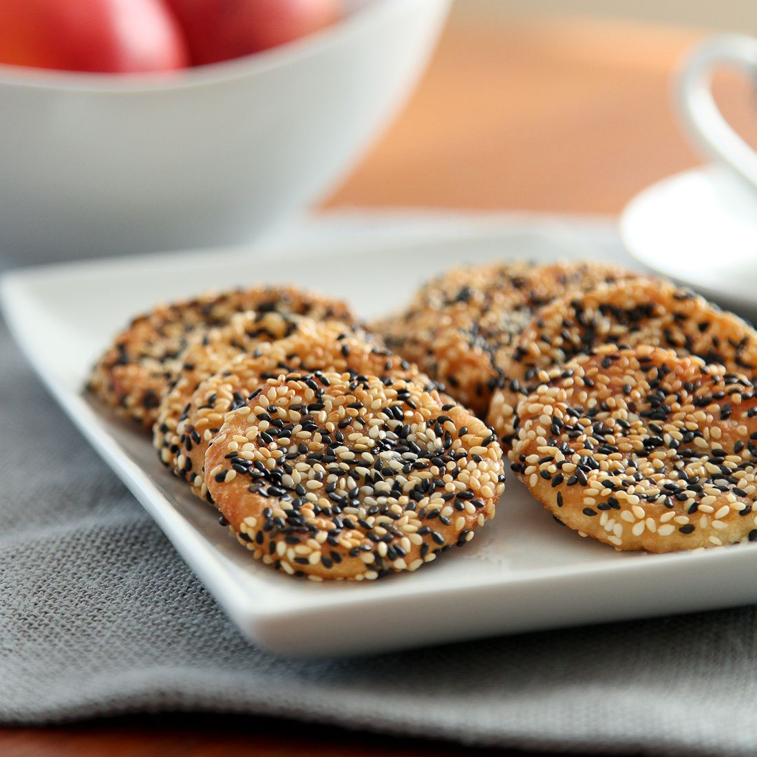 sesame peach mochi cookies recipe food gluten free peach food recipes pinterest