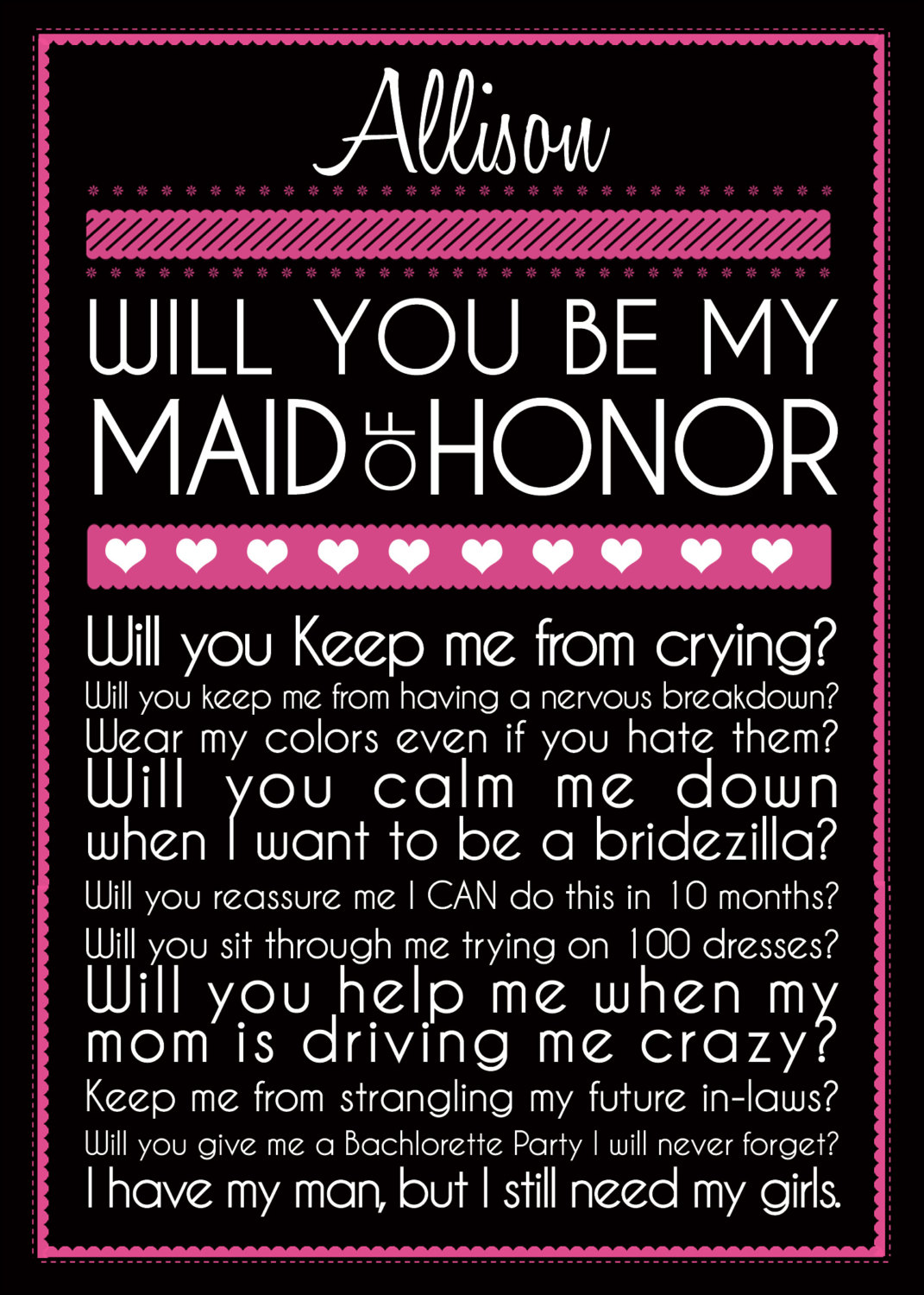 Bridesmaid Card by BelisarioPhotography on Etsy I definitely want to do some  Will You Be My
