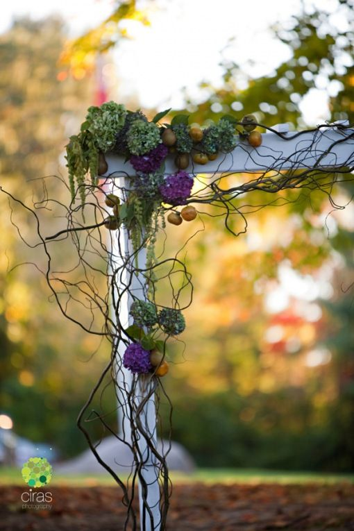 green and purple... vines... my groom and his wine making would love this