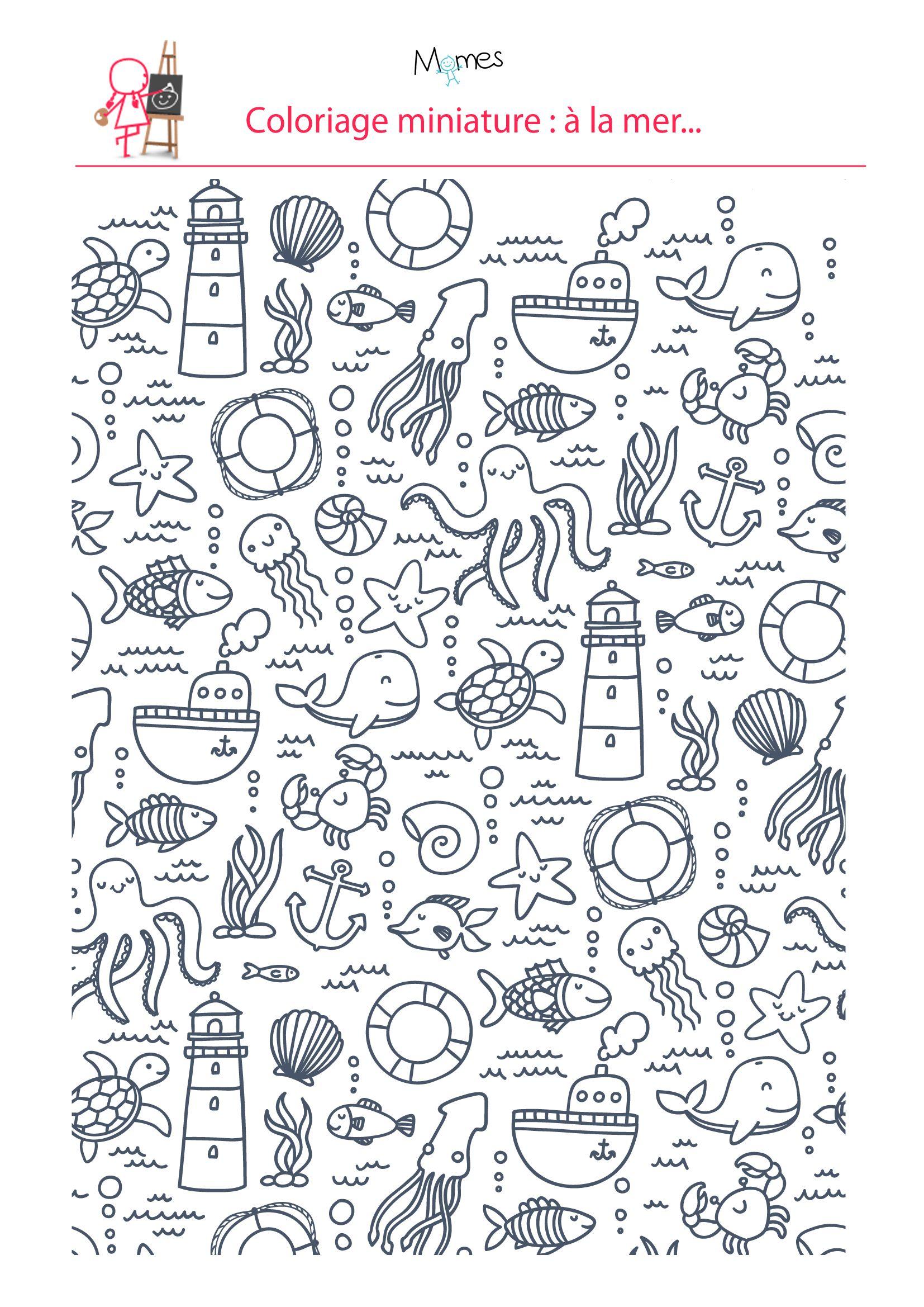 Top Coloriage : à la mer | Doodles, Bullet and Journal SZ07