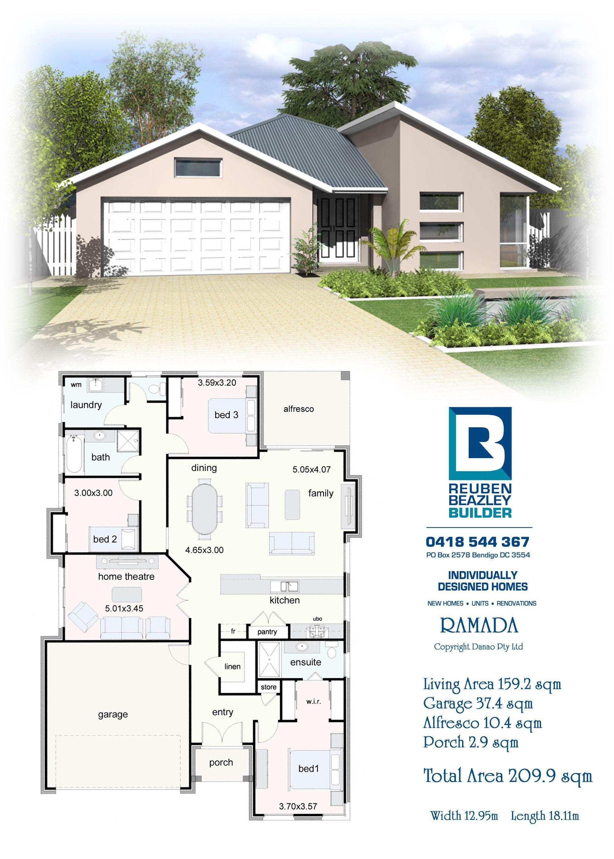 The Ramada House Plans House Design Pretty House