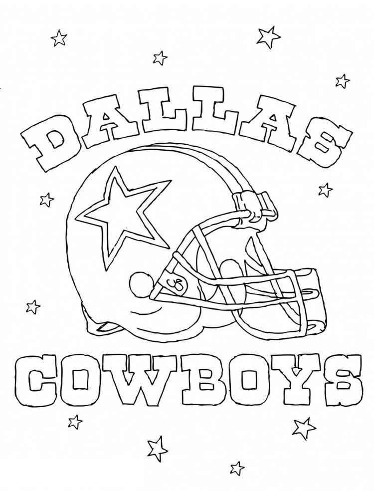 Dallas Cowboys Coloring Page