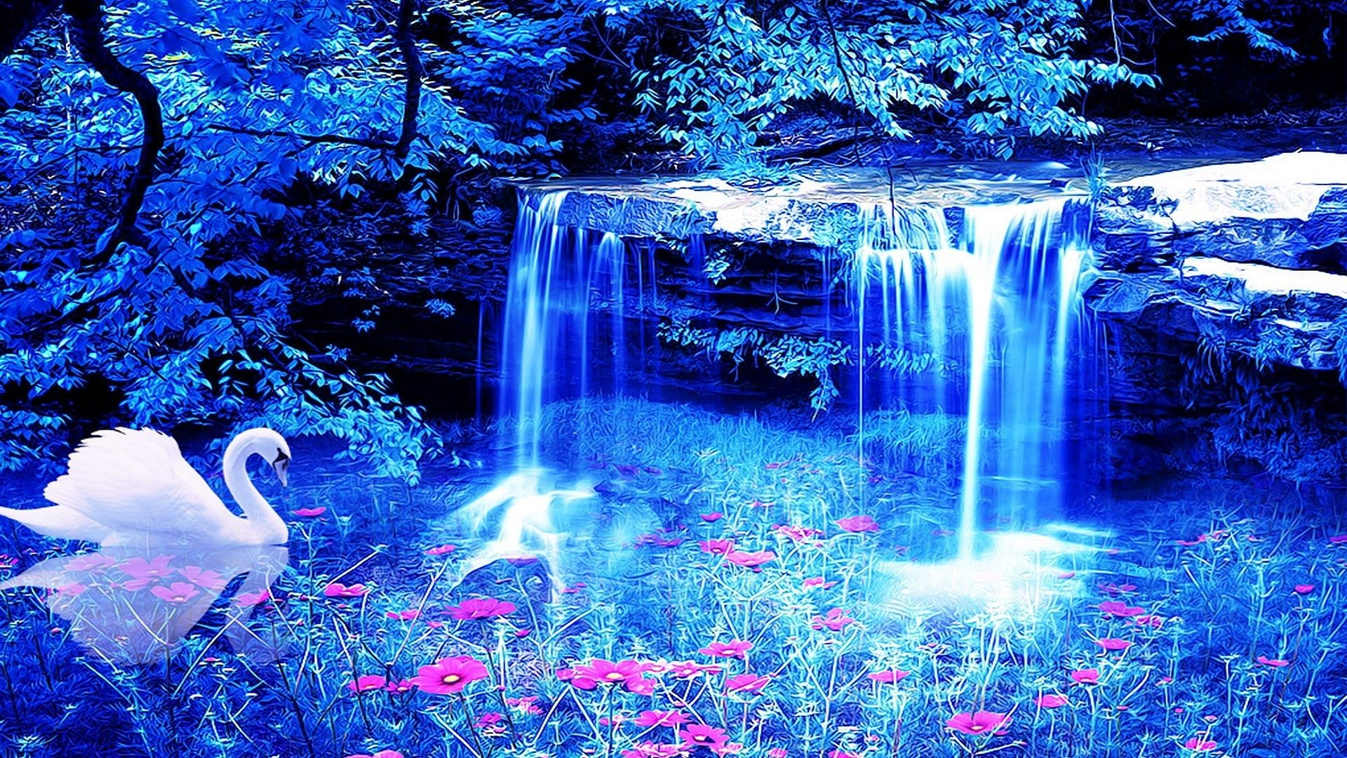 Beautiful Waterfalls Hd Wallpaper Background Free For Desktop Beautiful Waterfalls Waterfall Wallpaper Waterfall