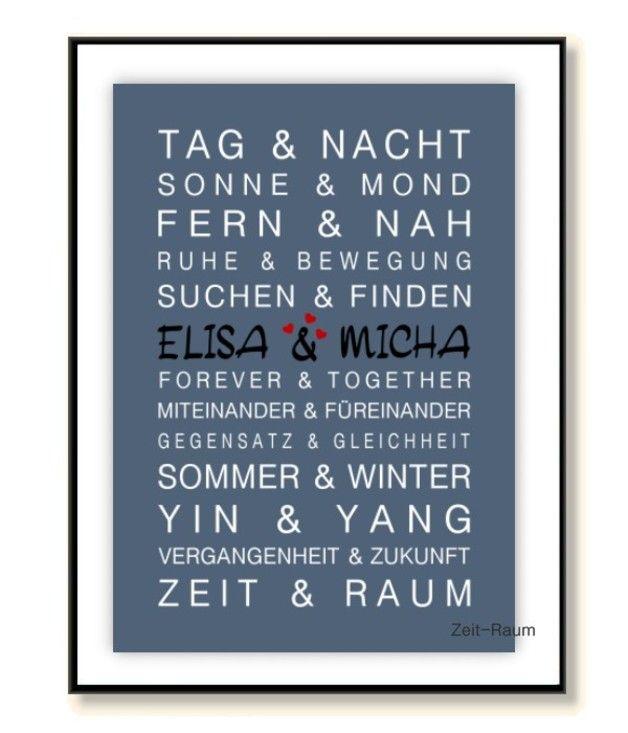 Gastgeschenke Zeit Raum Kunstdruck Geschenk Hochzeit Geburtstag