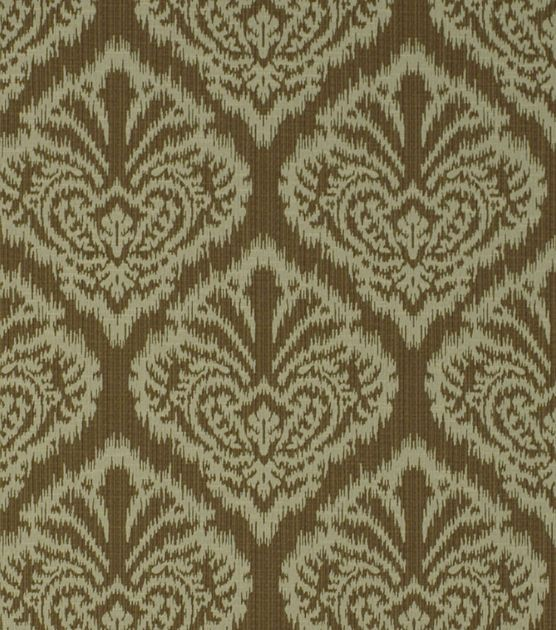 Upholstery Fabric-Robert Allen Ikat Damask-BronzeUpholstery Fabric-Robert Allen Ikat Damask-Bronze,