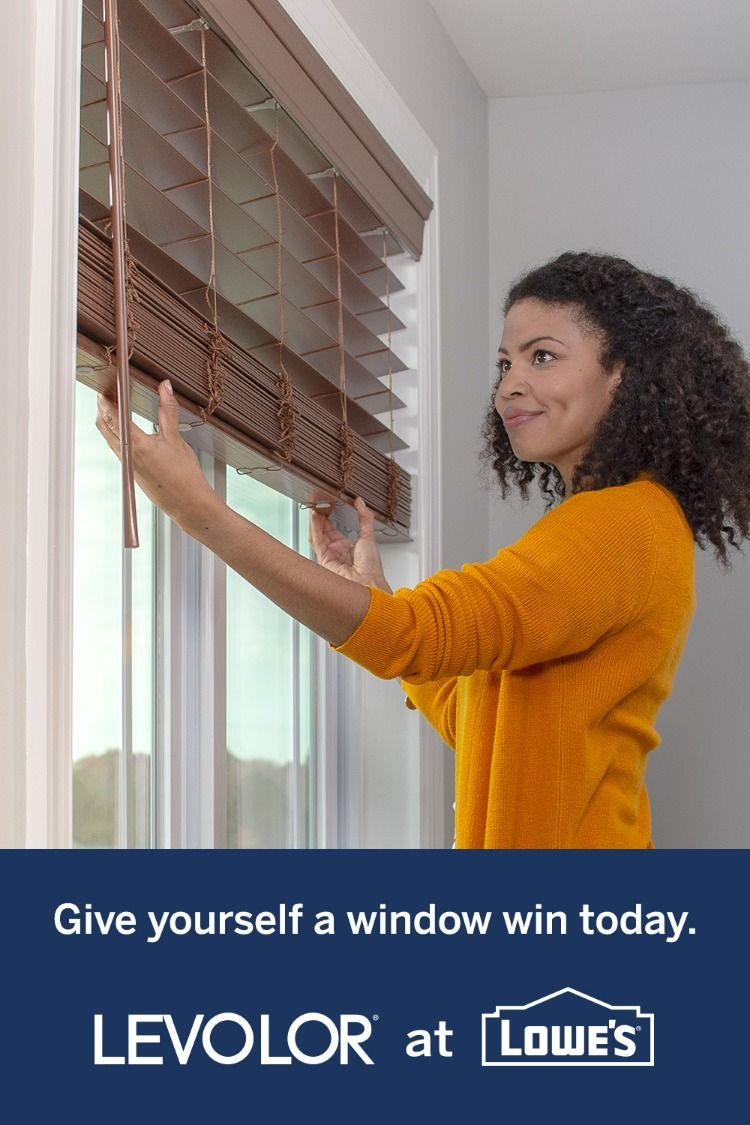Measure Shop And Install New Blinds Today With Levolor At Lowe S Blinds Lowes Windows Diy Remodel