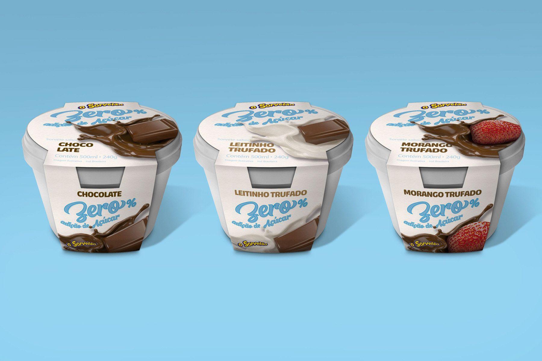 d6668c152 Embalagem para sorvetes Zero Lactose e Zero Açúcar on Behance ...