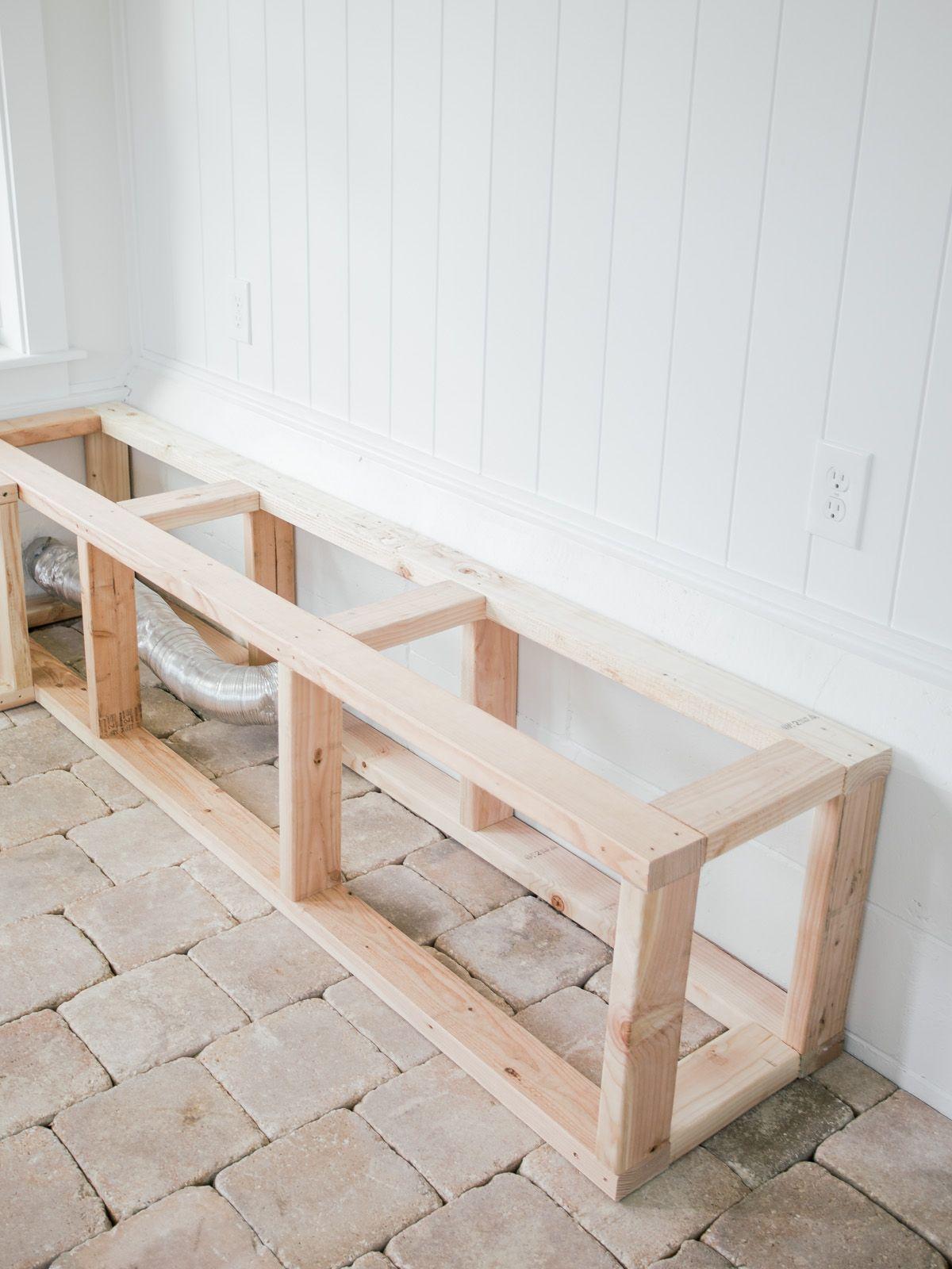 DIY Corner Bench In Our Sunroom