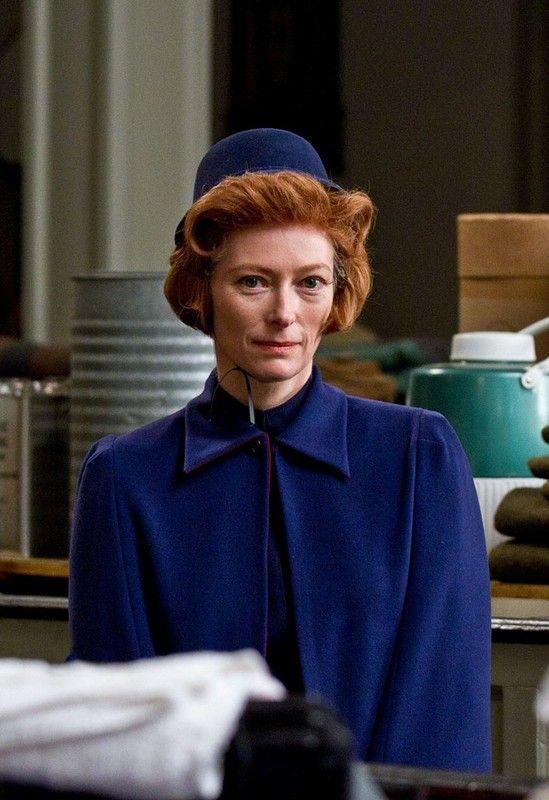 Tilda Swinton in Moonrise Kingdom, a Wes Anderson film. More images here: http://www.dazeddigital.com/the-grand-budapest-hotel-day