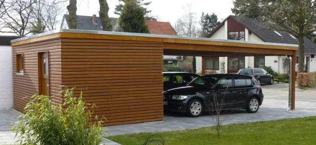 Bildergebnis Fur Doppelcarport Holz Abstellraum Haus Aussen Doppelcarport Haus