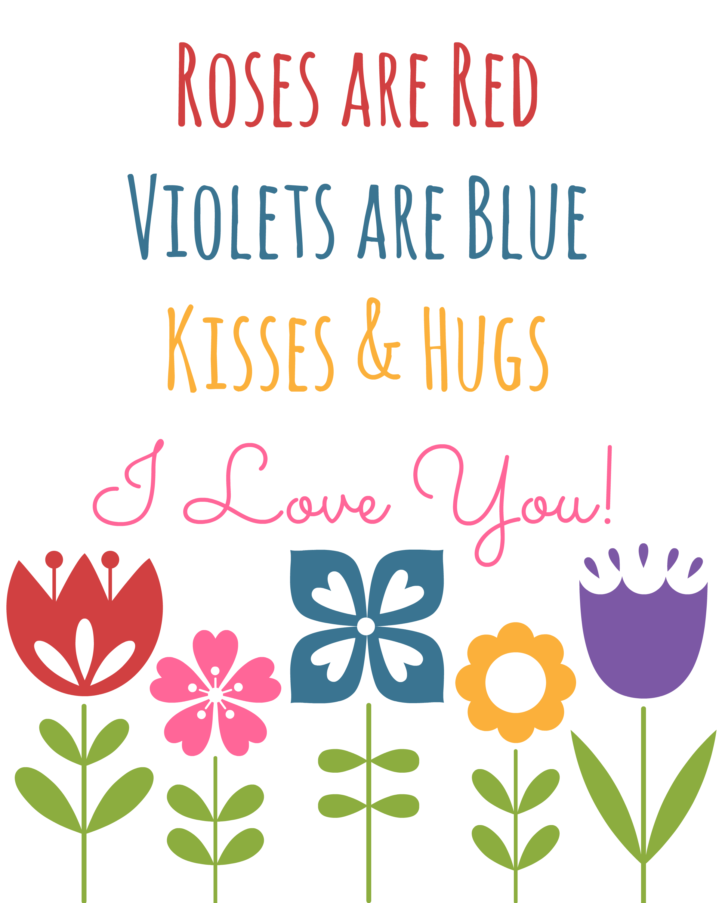 Roses Are Red Valentine S Day Printable Art A Mom S Take Roses Are Red Poems Roses Are Red Violets Are Blue Red Roses