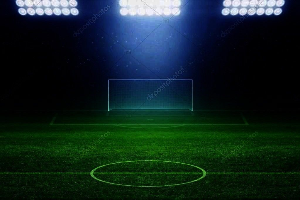 - Stock Photo , 6328 Soccer Stadium Field Backdrop Christmas card with neon tree Cool Light Pain