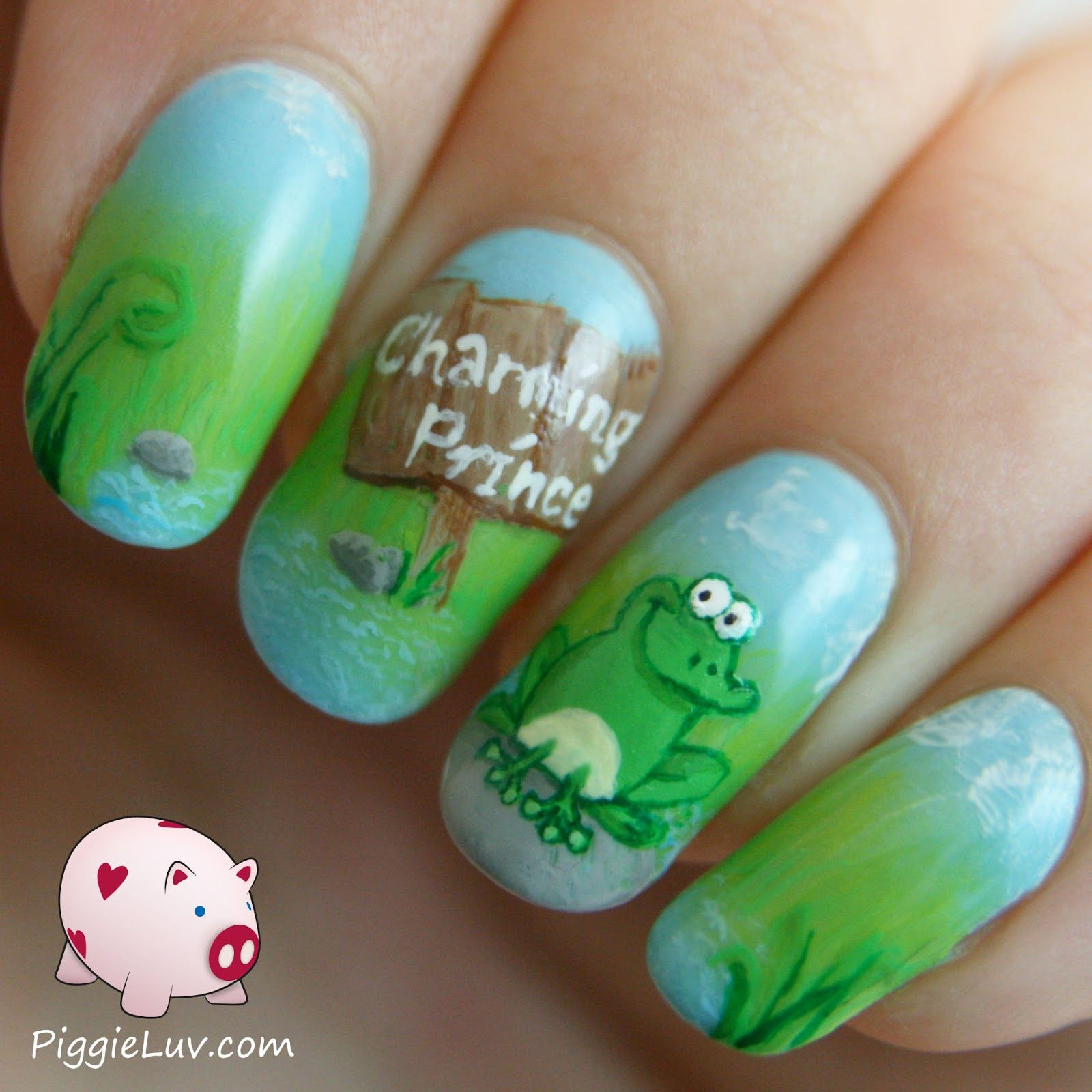 Kiss the frog! | Frogs, Prom nails and Nail nail