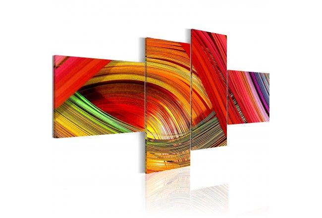 tableau mural bondes multicolores tableau abstrait impression sur toile et tableaux muraux. Black Bedroom Furniture Sets. Home Design Ideas