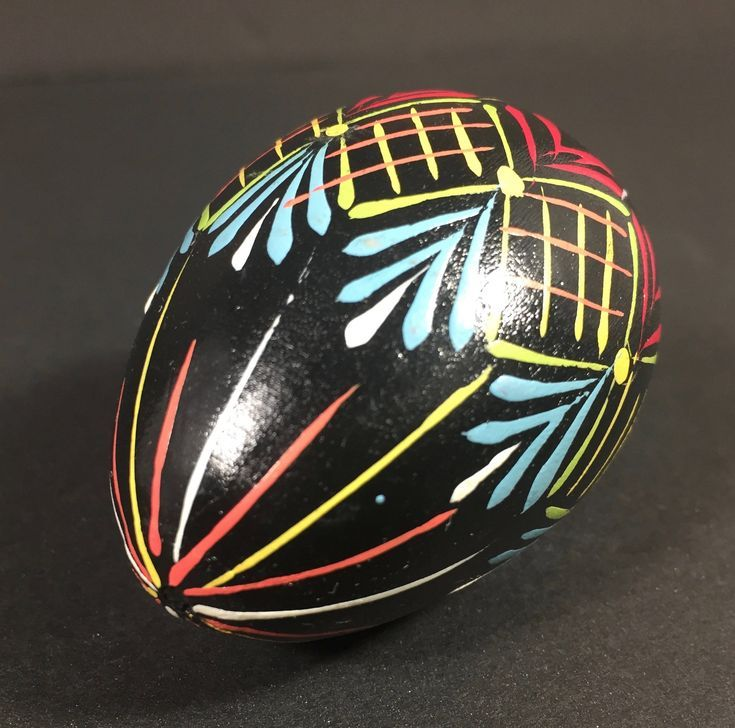 Pysanky Egg Wooden Egg Ukranian Art Russian Easter Egg Estate Item 1960s Easter Decor Batik  Pysanky Egg Wooden Egg Ukranian Art Russian Easter Egg Estate Item 1960s East...