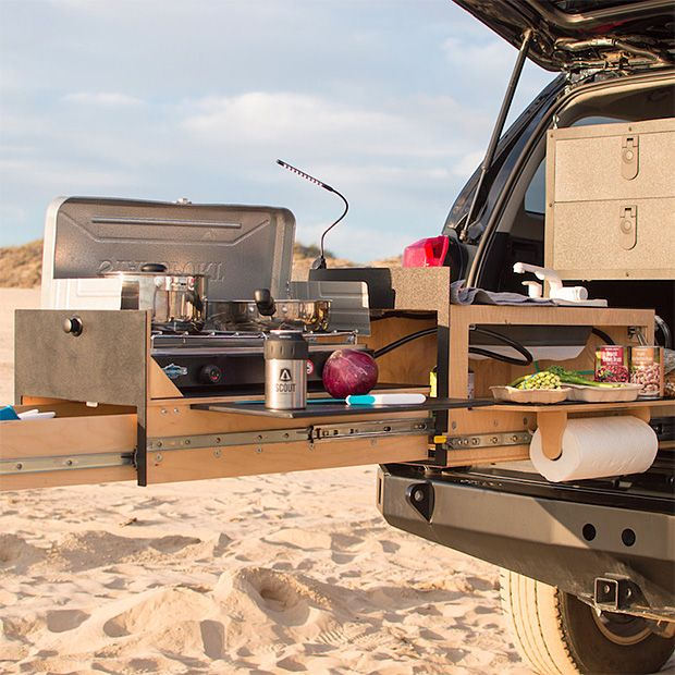 Scout Overland Kitchen Truck Bed Camping Jeep Camping Car Camper
