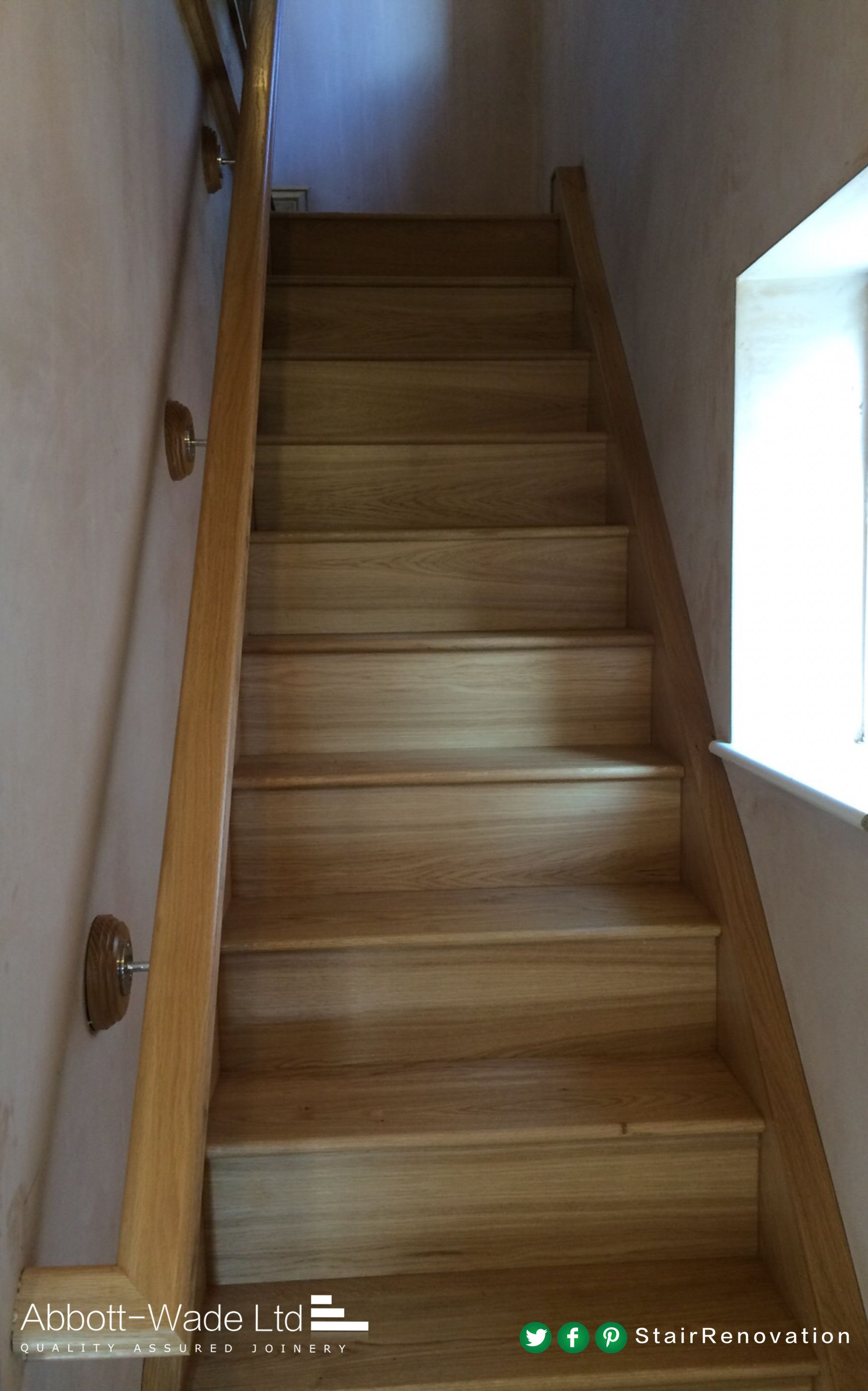 Our Wall Handrails Return Back Into The Wall So You Never See Any End Grain New Staircase Handrail Staircase