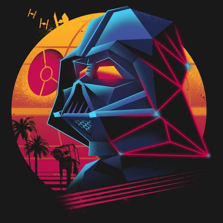 Darth Vader Art 80s Retro Miami Star Wars Star Wars Art Star Wars Artwork