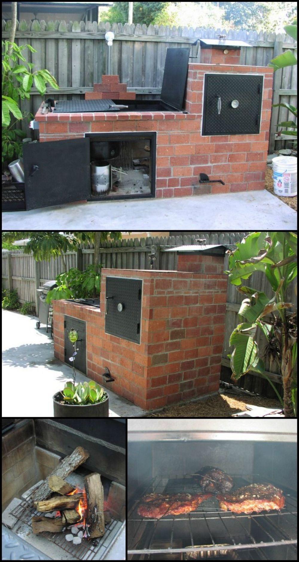 25 Best DIY Backyard Brick Barbecue Ideas in 2020 | Brick ... on Diy Bbq Patio id=23670