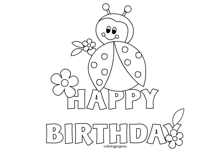 ladybug-happy-birthday2 | Coloring birthday cards, Happy ...